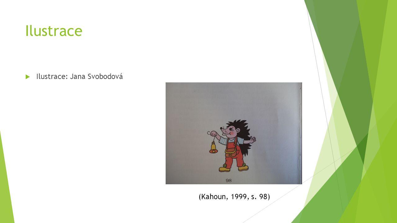Ilustrace  Ilustrace: Jana Svobodová (Kahoun, 1999, s. 98)