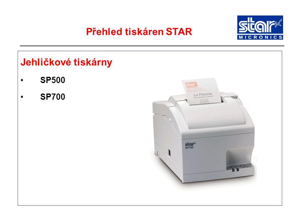Jehličkové tiskárny SP500 SP700 Přehled tiskáren STAR