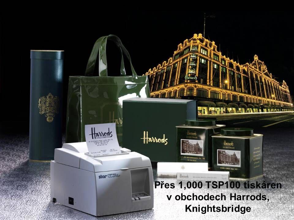 Přes 1,000 TSP100 tiskáren v obchodech Harrods, Knightsbridge