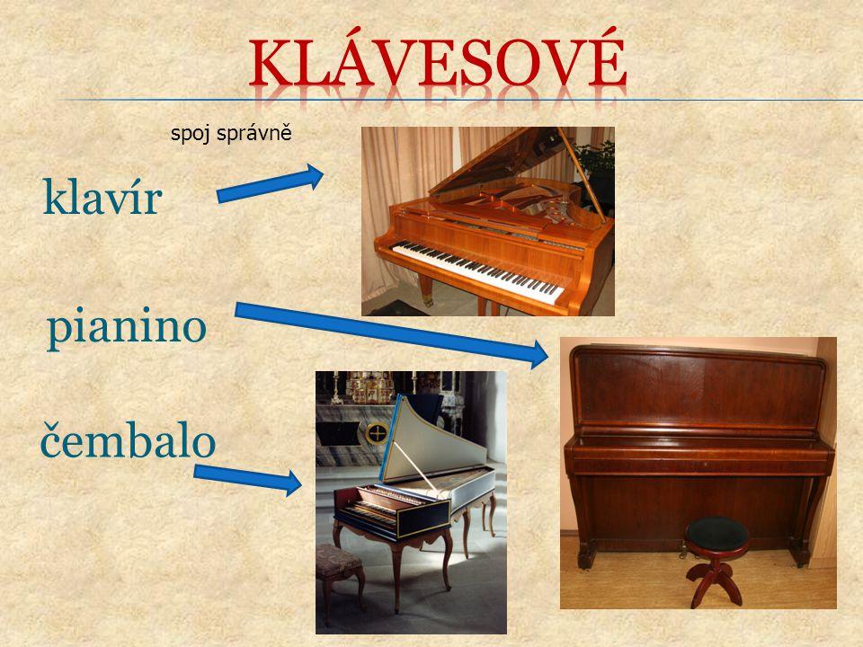 klavír spoj správně pianino čembalo