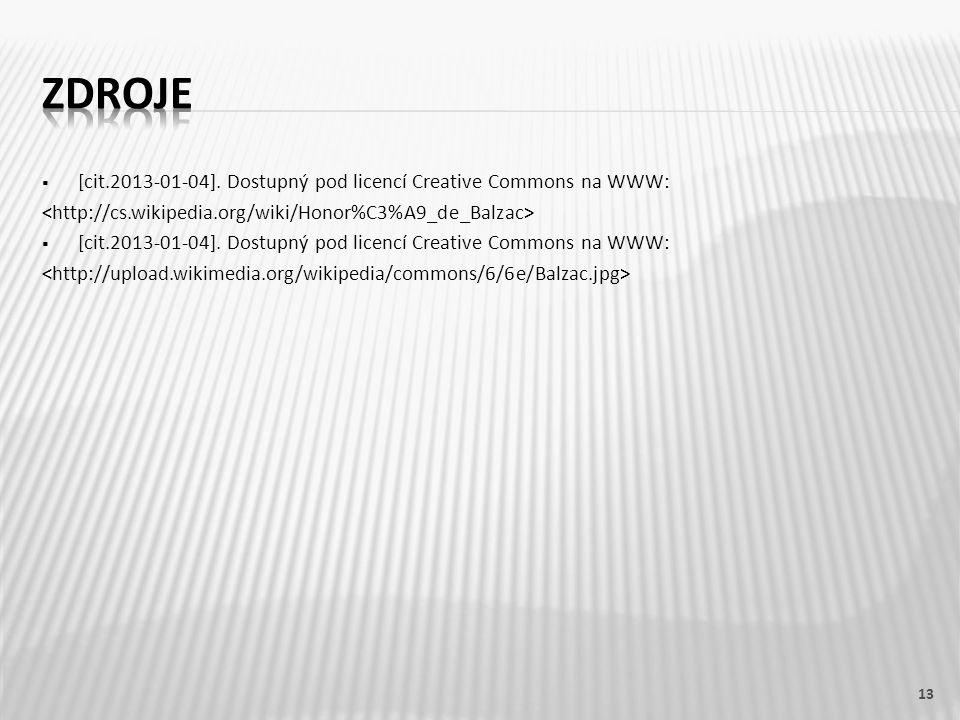  [cit.2013-01-04]. Dostupný pod licencí Creative Commons na WWW:  [cit.2013-01-04].