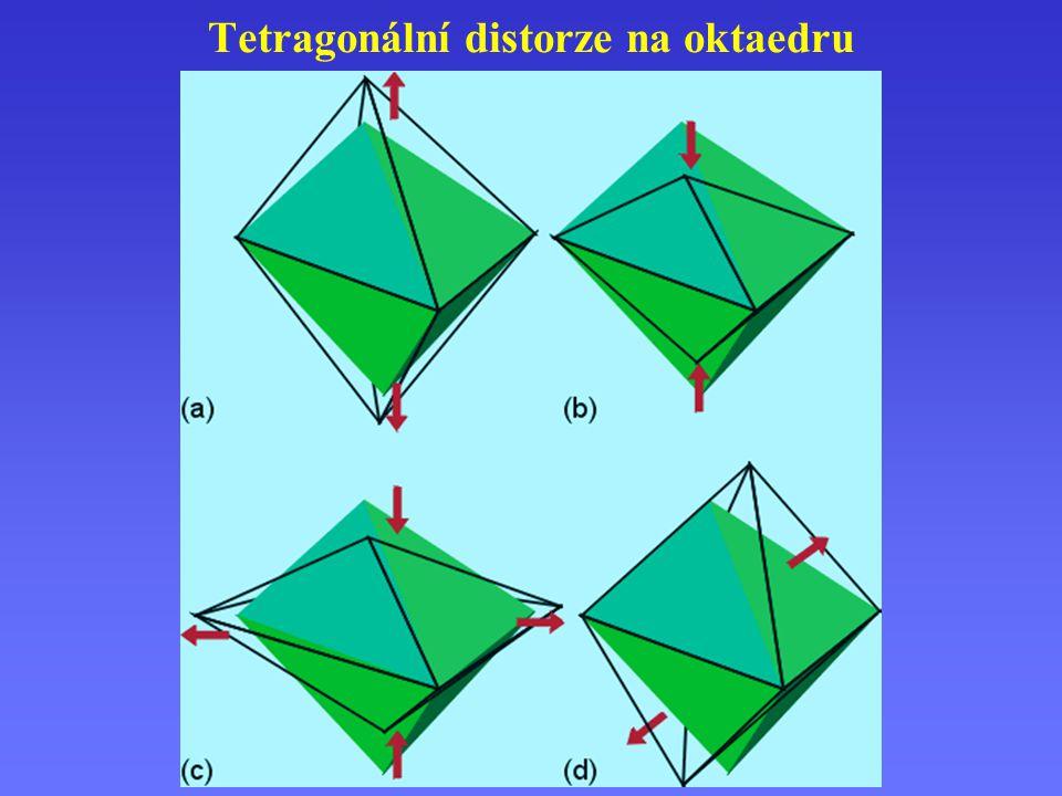 Tetragonální distorze na oktaedru