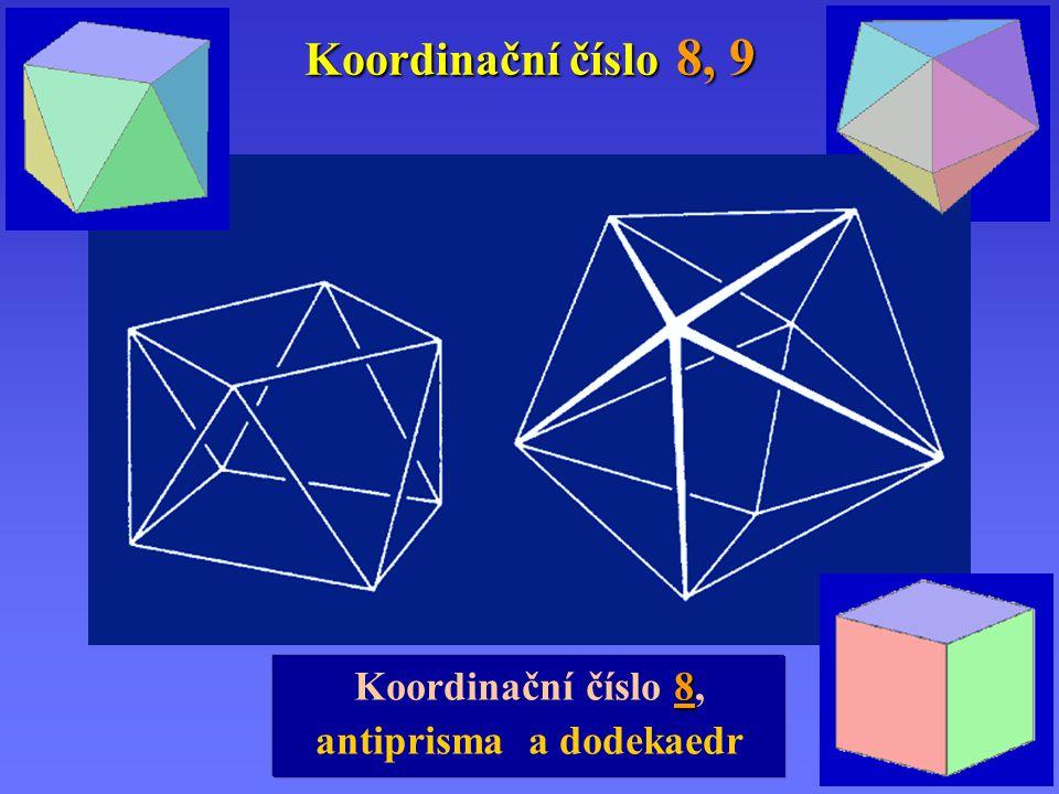 Koordinační číslo 8, 9 8 Koordinační číslo 8, antiprisma a dodekaedr