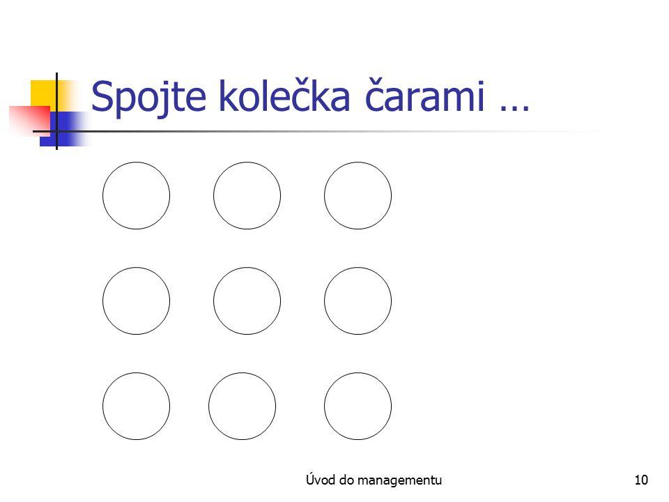 Úvod do managementu10 Spojte kolečka čarami …