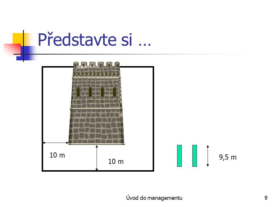 Úvod do managementu9 Představte si … 10 m 9,5 m