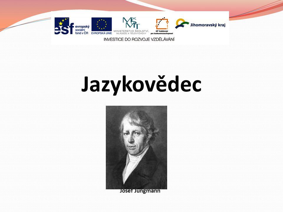 Josef Jungmann Jazykovědec