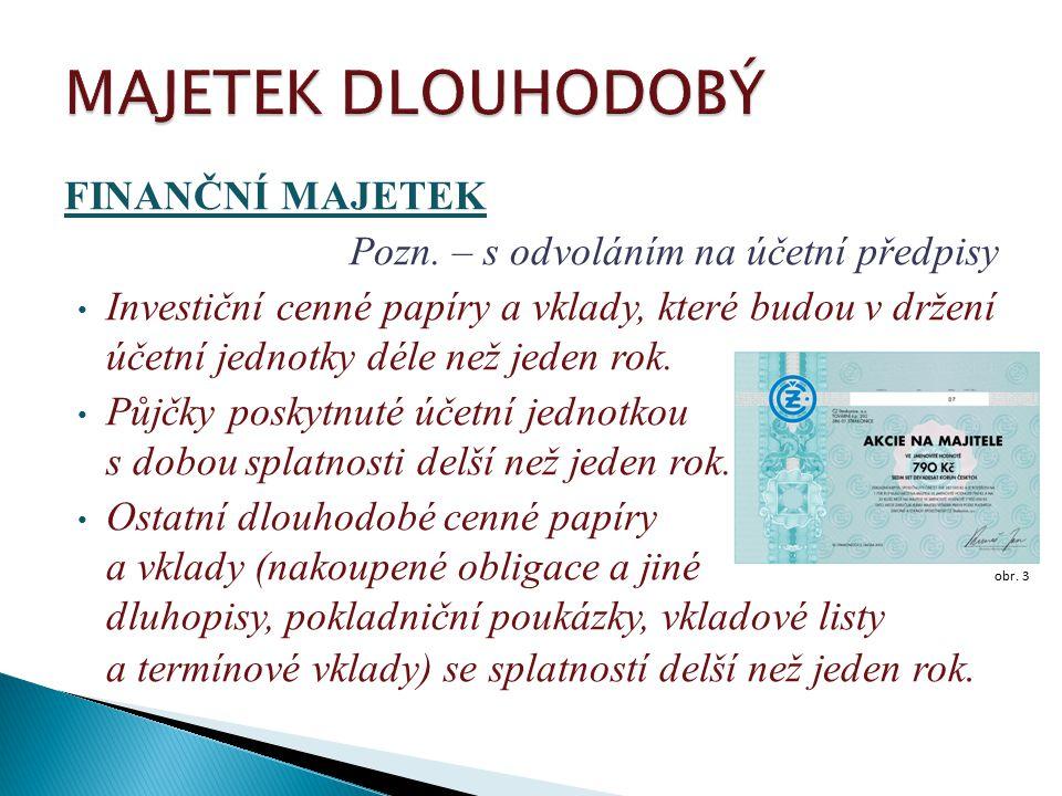 FINANČNÍ MAJETEK Pozn.