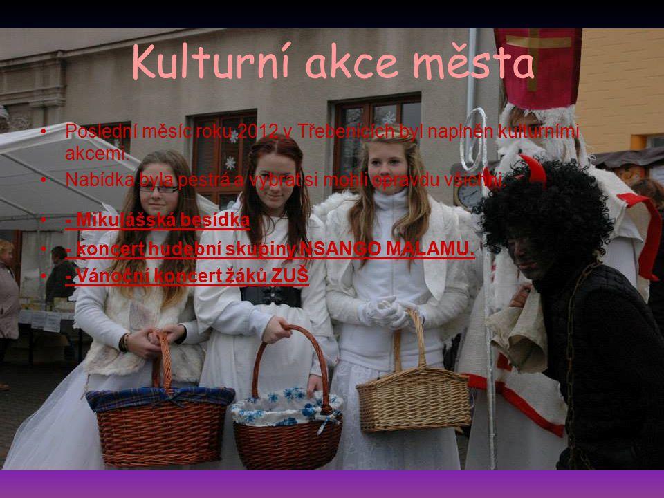 Kulturní akce města Poslední měsíc roku 2012 v Třebenicích byl naplněn kulturními akcemi. Nabídka byla pestrá a vybrat si mohli opravdu všichni. - Mik