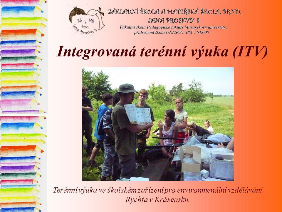 Integrovaná terénní výuka (ITV) Terénní výuka ve školském zařízení pro environmenální vzdělávání Rychta v Krásensku.
