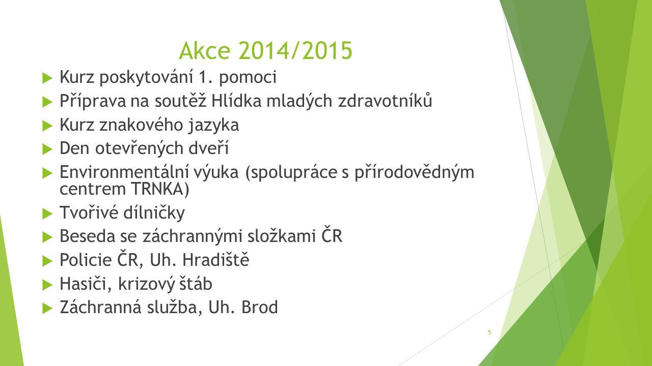 Akce 2014/2015  Kurz poskytování 1.