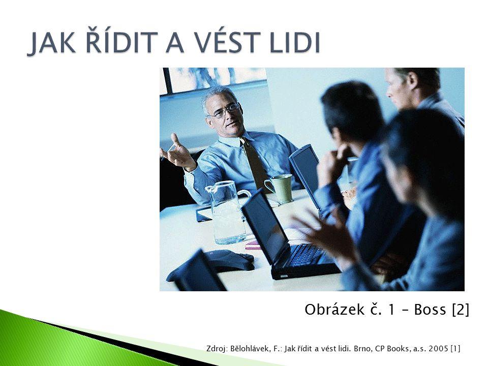 Obrázek č. 1 – Boss [2] Zdroj: Bělohlávek, F.: Jak řídit a vést lidi. Brno, CP Books, a.s. 2005 [1]