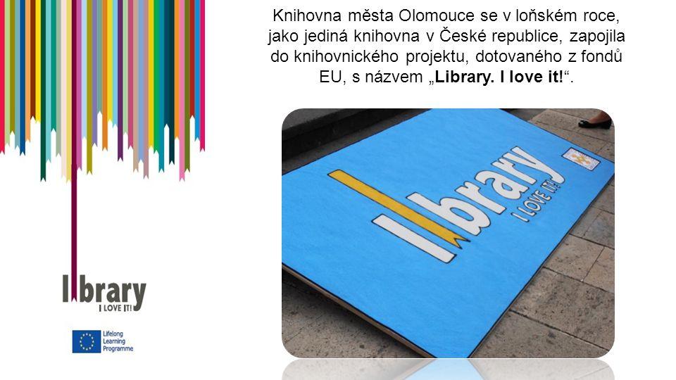 """Knihovna města Olomouce se v loňském roce, jako jediná knihovna v České republice, zapojila do knihovnického projektu, dotovaného z fondů EU, s názvem """"Library."""