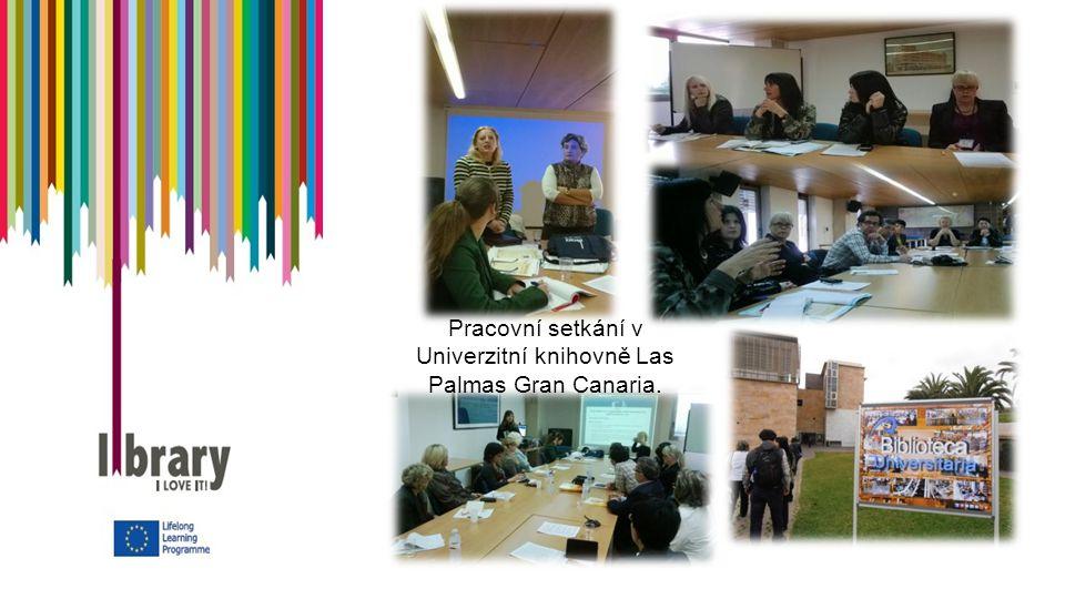 Pracovní setkání v Univerzitní knihovně Las Palmas Gran Canaria.