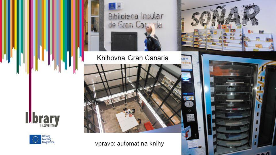 Knihovna Gran Canaria vpravo: automat na knihy