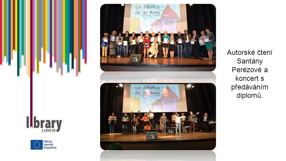 Autorské čtení Santány Perézové a koncert s předáváním diplomů.