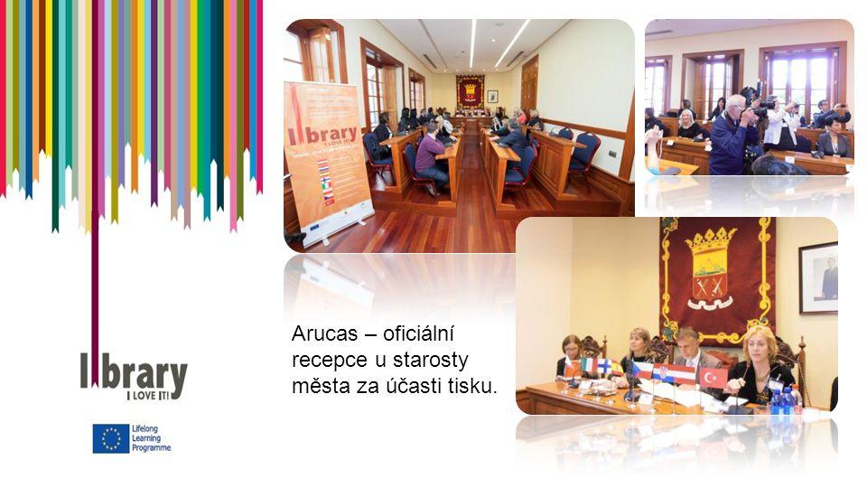 Arucas – oficiální recepce u starosty města za účasti tisku.