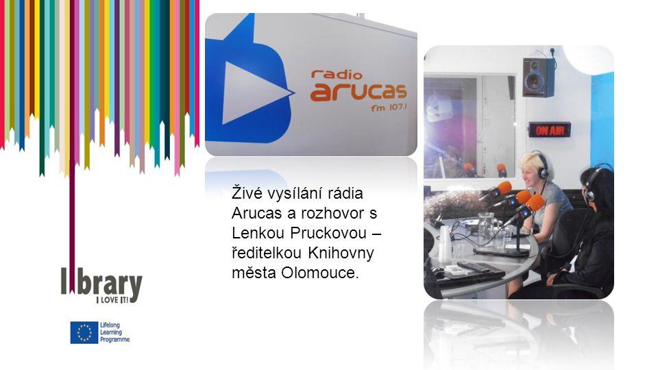Živé vysílání rádia Arucas a rozhovor s Lenkou Pruckovou – ředitelkou Knihovny města Olomouce.