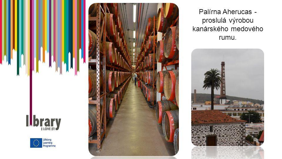 Palírna Aherucas - proslulá výrobou kanárského medového rumu.