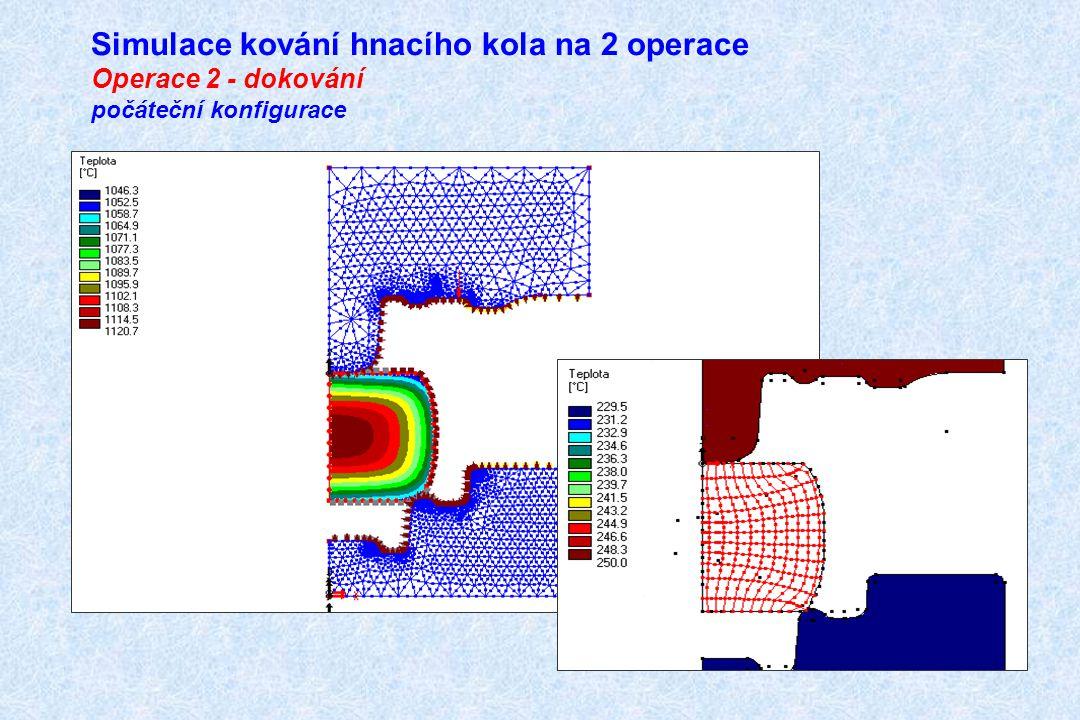 Simulace kování hnacího kola na 2 operace Operace 2 - dokování počáteční konfigurace
