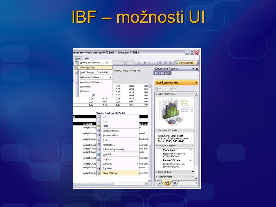 IBF – možnosti UI