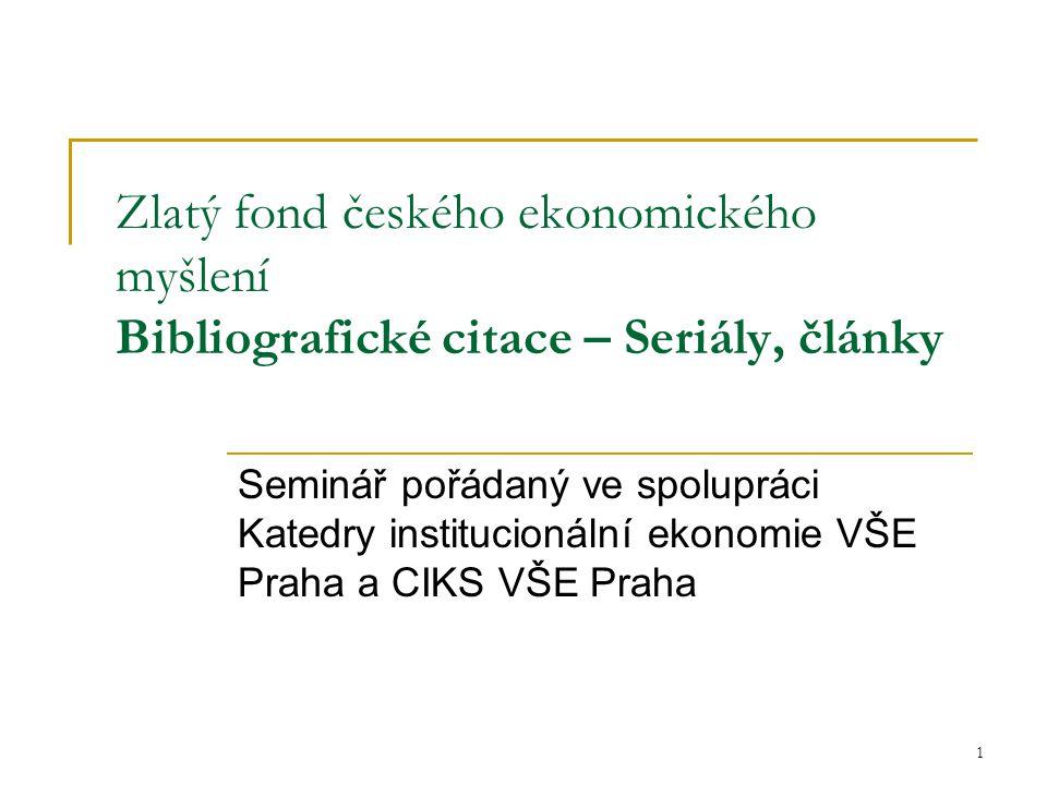 2 Bibliografické citace Co je bibliografická citace.
