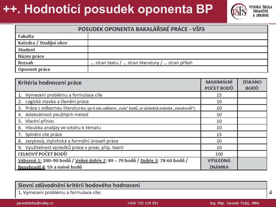 54 ++.Hodnotící posudek oponenta BP jaromirtichy@volny.cz+420 733 124 051Ing.