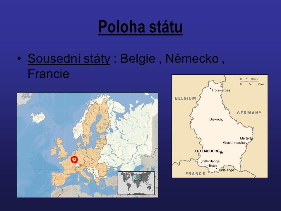 Poloha státu Sousední státy : Belgie, Německo, Francie