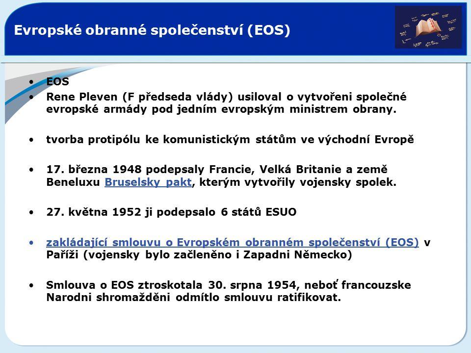 Jednotný evropský akt První mezivládní konference zahájila činnost dne 9.