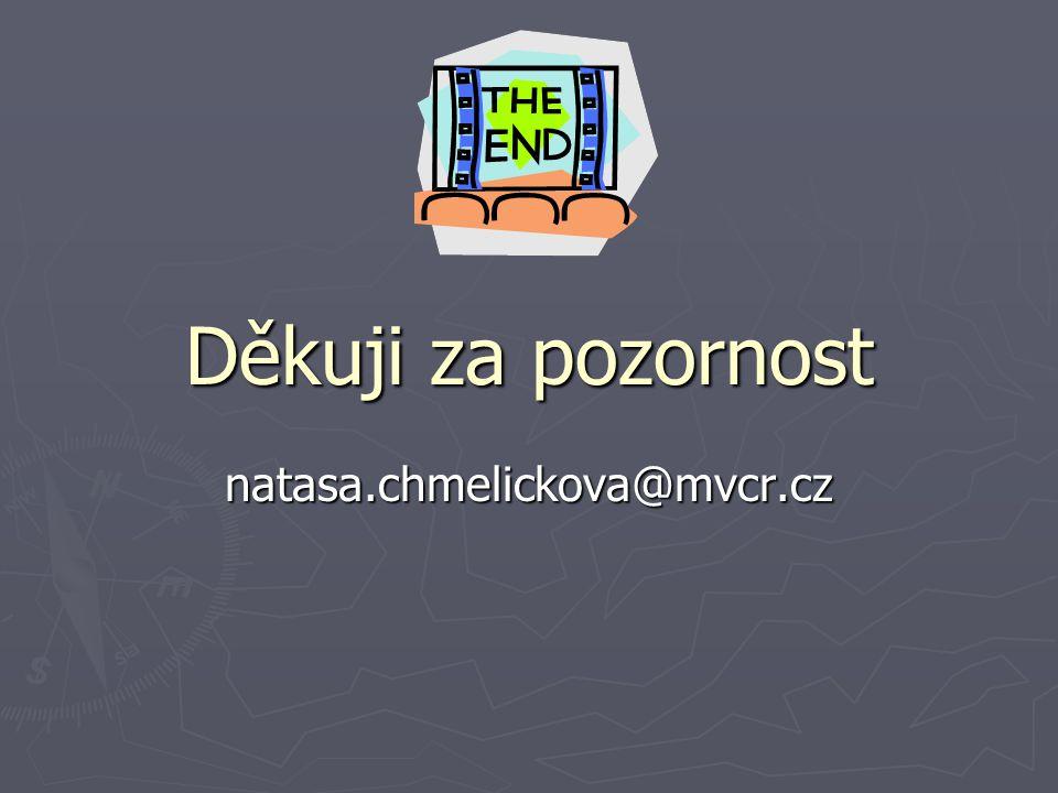 Děkuji za pozornost natasa.chmelickova@mvcr.cz