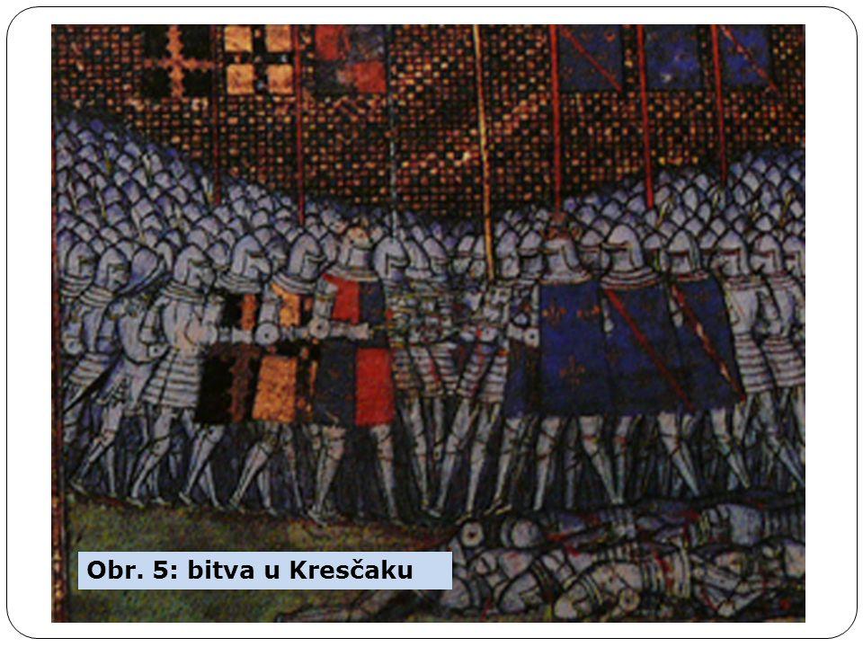 Obr. 5: bitva u Kresčaku