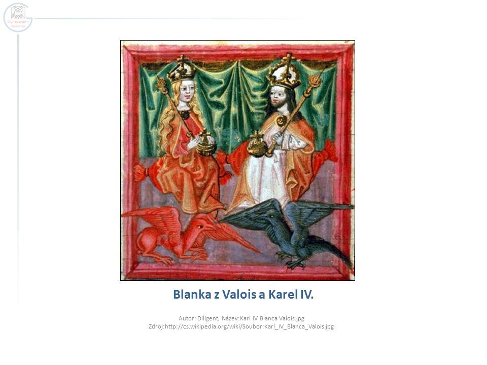 Blanka z Valois a Karel IV. Autor: Diligent, Název:Karl IV Blanca Valois.jpg Zdroj:http://cs.wikipedia.org/wiki/Soubor:Karl_IV_Blanca_Valois.jpg