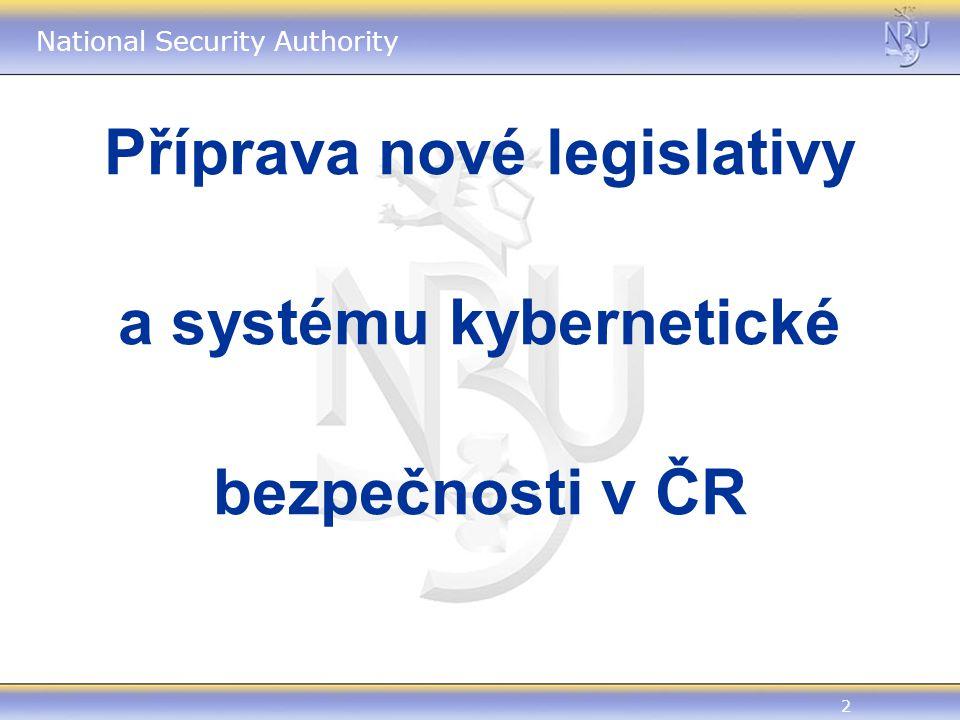 2 Příprava nové legislativy a systému kybernetické bezpečnosti v ČR
