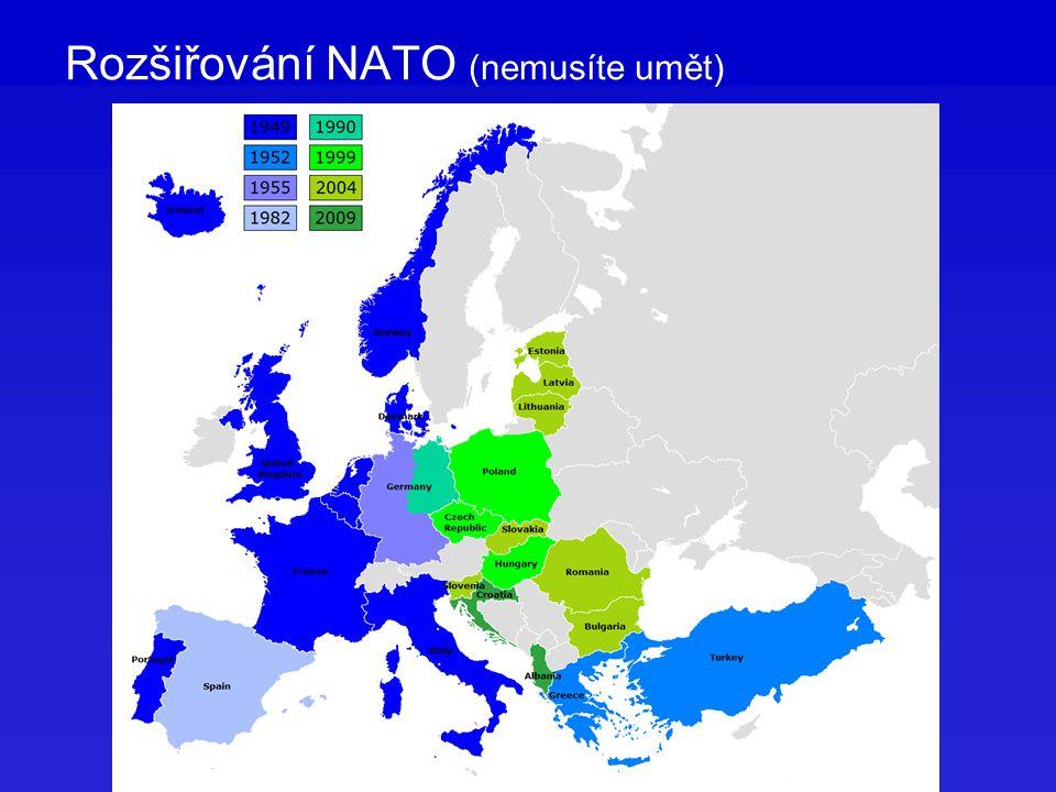 Rozšiřování NATO (nemusíte umět)