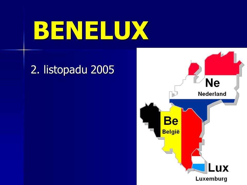 BENELUX složenina Belgium, Netherlands, Luxembourg složenina Belgium, Netherlands, Luxembourg první předchůdci EU – odstranění cel a jiných obchodních bariér první předchůdci EU – odstranění cel a jiných obchodních bariér