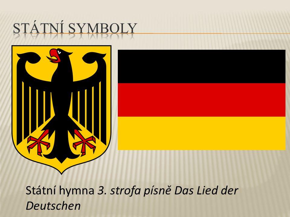 Státní hymna 3. strofa písně Das Lied der Deutschen