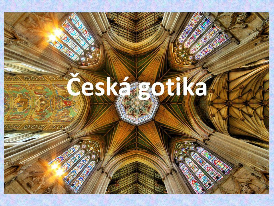 Hrady změna dispozice → velké hranolová věž spojená s palácem Kost, Velhartice, Lipnice, Kašperk, Radyně Karlštejn (1348-1357) – kaple sv.