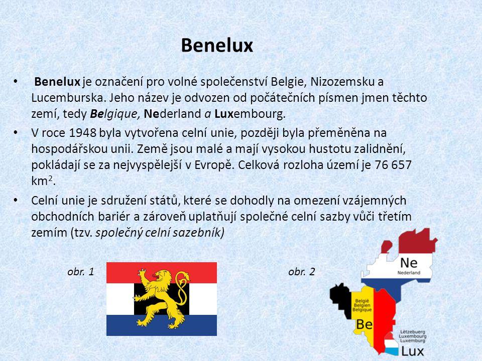 Benelux Benelux je označení pro volné společenství Belgie, Nizozemsku a Lucemburska.