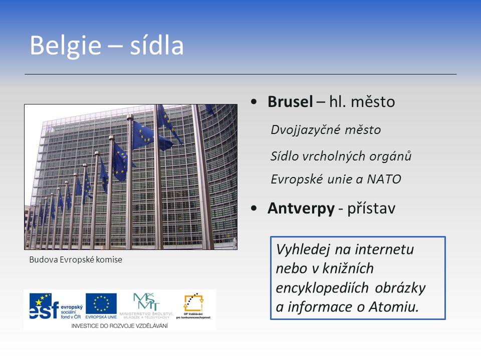Belgie – sídla Brusel – hl.