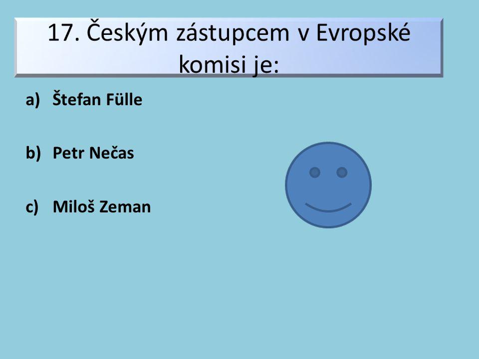 a)Štefan Fülle b)Petr Nečas c)Miloš Zeman