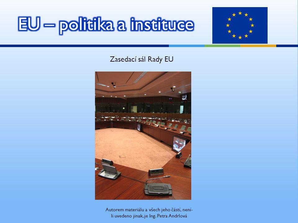 Zasedací sál Rady EU