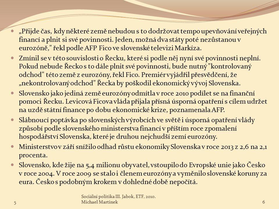 5 Sociální politika III.Jabok, ETF, 2010.