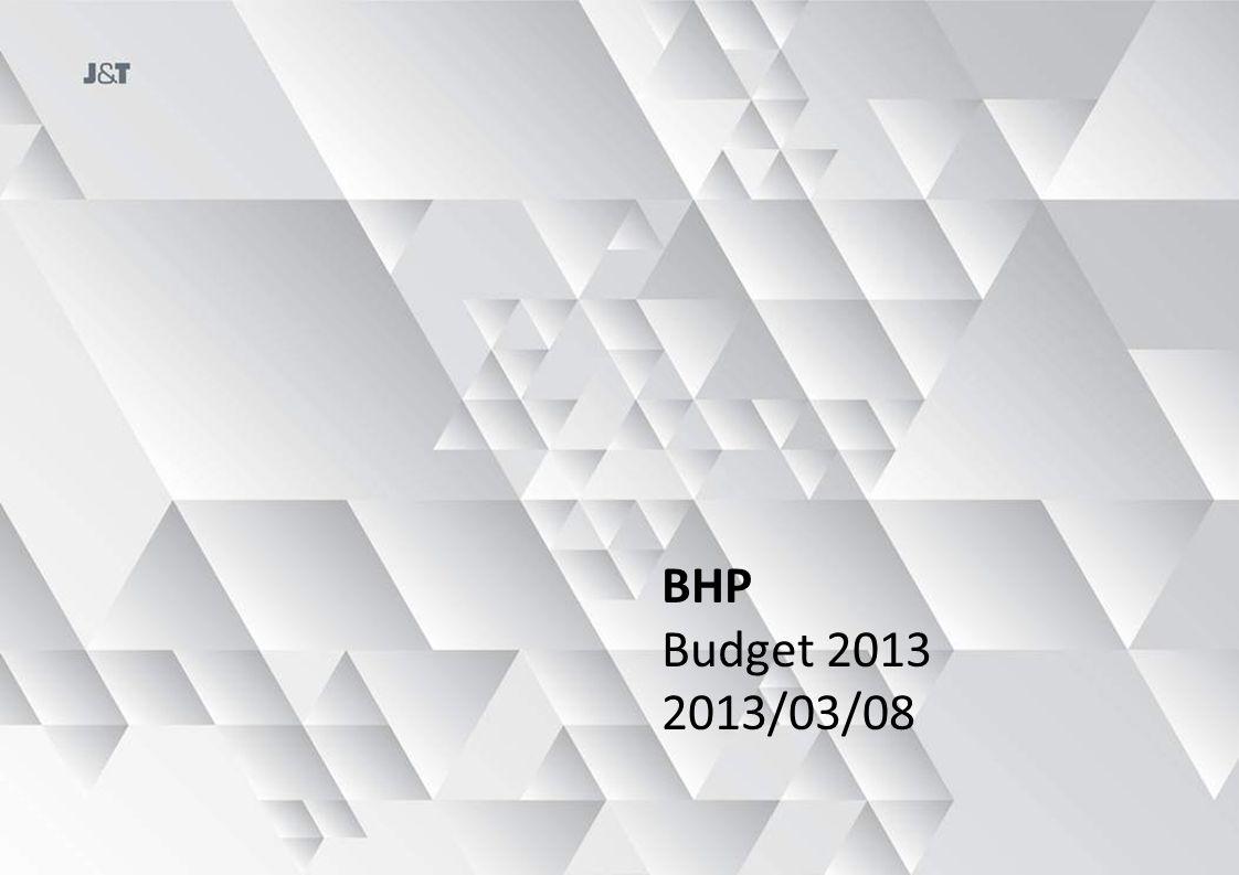 BHP Budget 2013 2013/03/08
