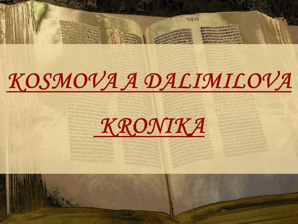 KOSMOVA A DALIMILOVA KRONIKA