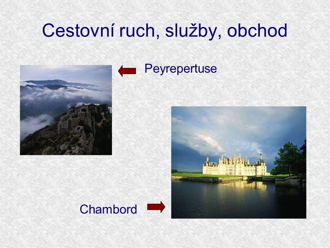 Cestovní ruch, služby, obchod Peyrepertuse Chambord