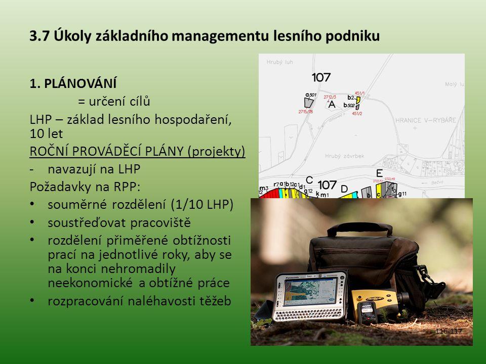 3.7 Úkoly základního managementu lesního podniku 1.