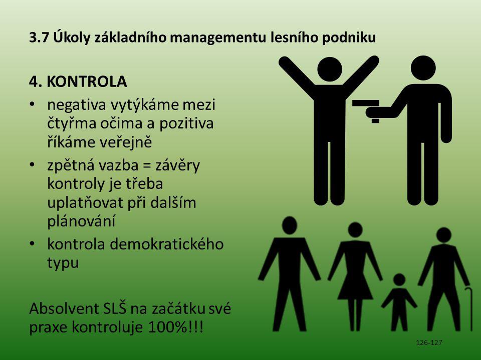 3.7 Úkoly základního managementu lesního podniku 4.