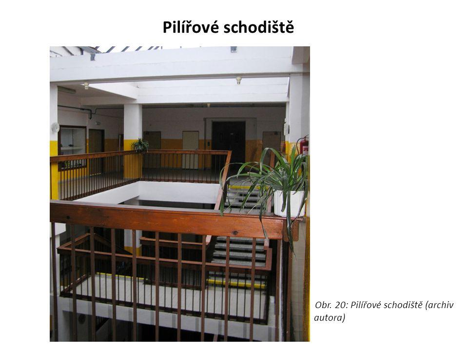 Pilířové schodiště Obr. 20: Pilířové schodiště (archiv autora)