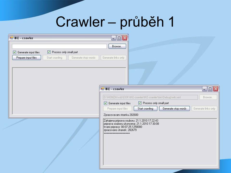 Crawler – průběh 1