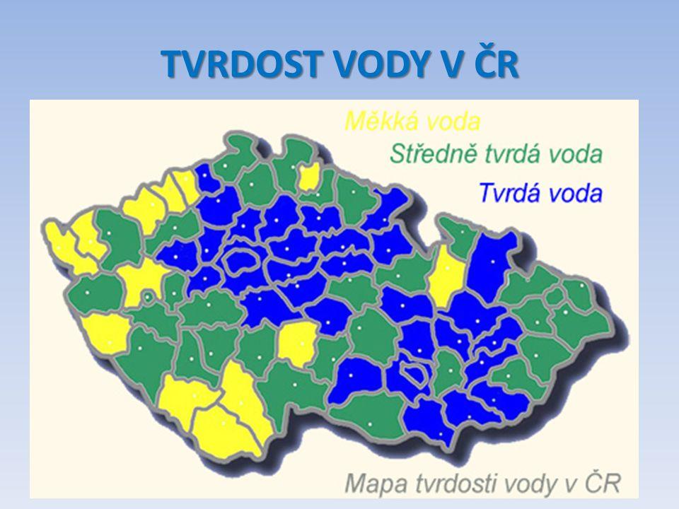TVRDOST VODY V ČR