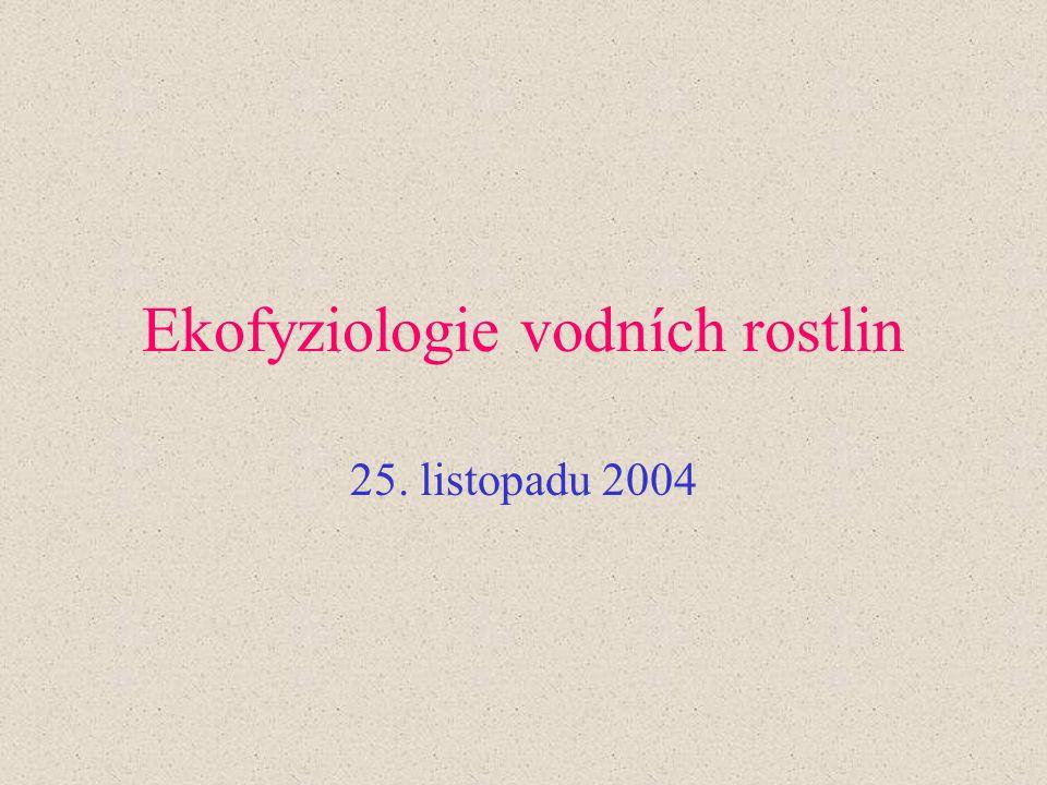 Ekofyziologie vodních rostlin 25. listopadu 2004